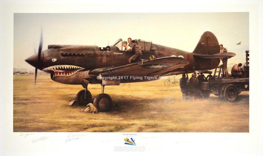 P 40 Warhawk Lithogragh
